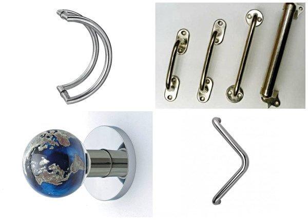 Варианты стационарных дверных ручек
