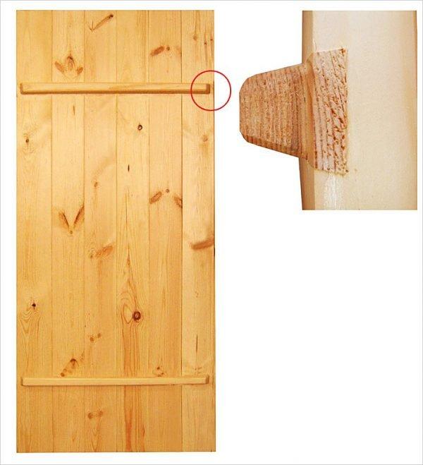 Поперечные планки на двери