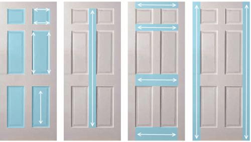Схема покраски деревянной филёнчатой двери