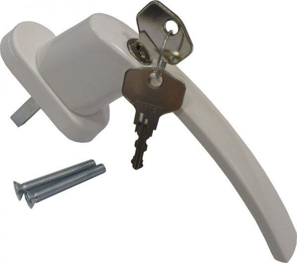 Пластиковая дверная ручка с замком