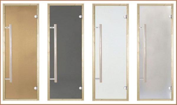 Варианты матовых дверей для сауны или бани