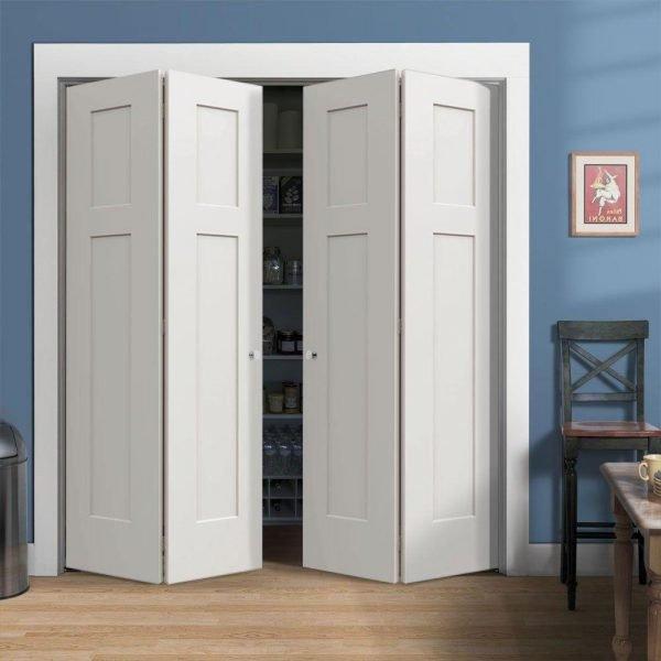 Двустворчатая складная дверь из четырёх полотен