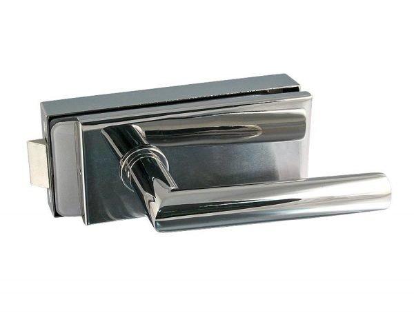 Врезная нажимная ручка для стекляной двери