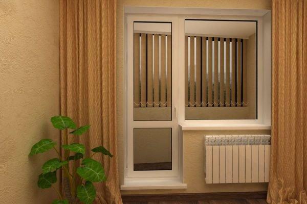 Цельный стеклопакет в балконных дверях
