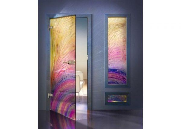 Вариант оформления двери плёнкой