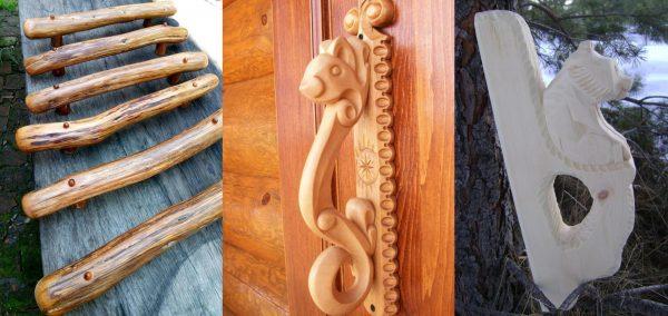 Ручки дверные деревянные для бани