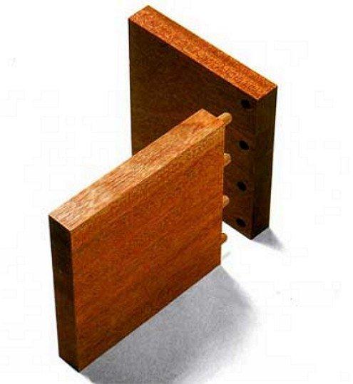 Пример соединения элементов в шип-паз