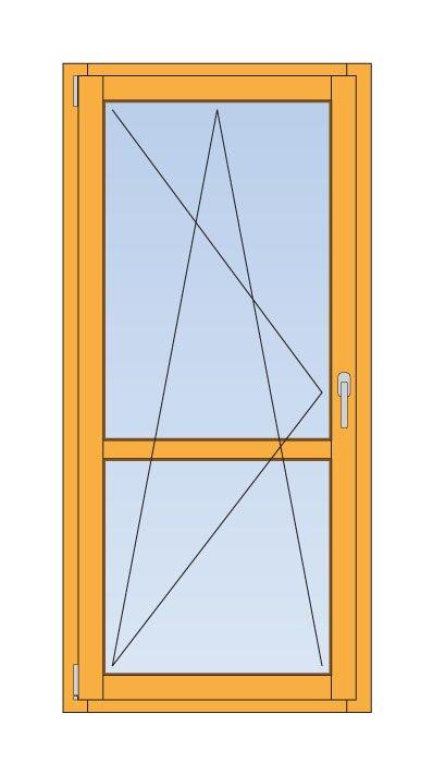 Схема примерной готовой двери со стёклами