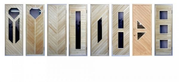Двери из древесины и стекла