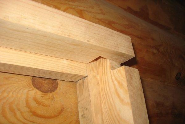 Сбор короба деревянной двери