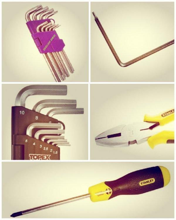 Набор инструментов для регулировки дверей