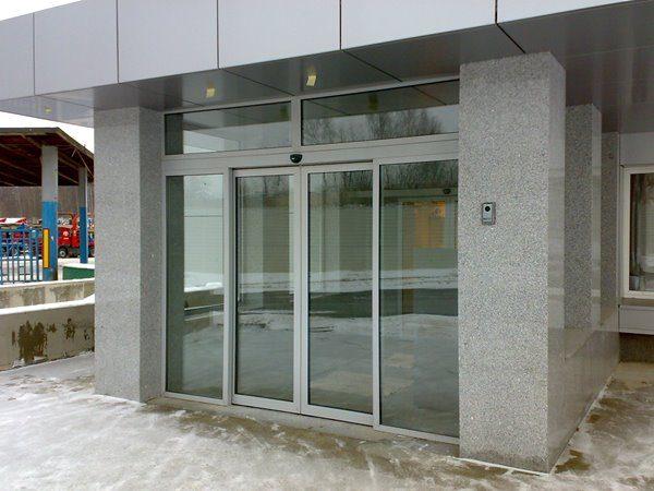 Алюминиевые автоматические двери