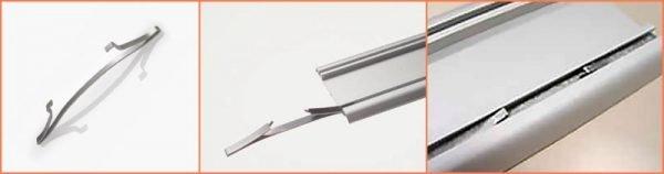 Пример фиксатора для алюминиевого полотна