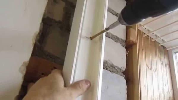 Прямая фиксация дверной коробки