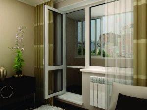 балконная ластиковая дверь