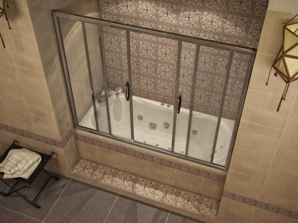 Ванна со стеклянной перегородкой