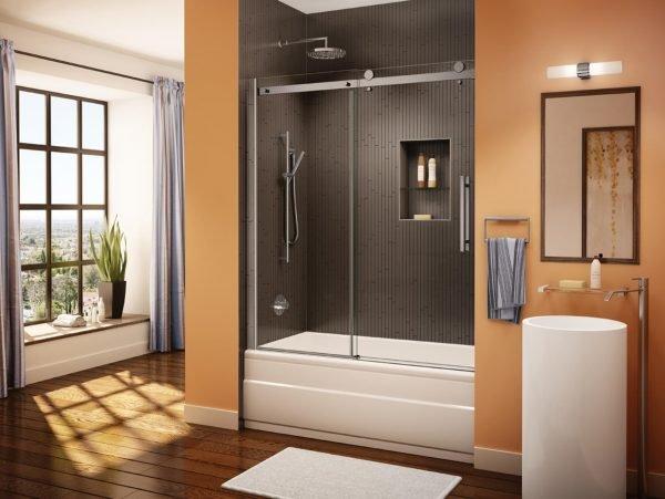 Раздвижная дверь на ванне