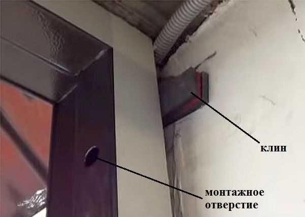 Установка короба металлической входной двери