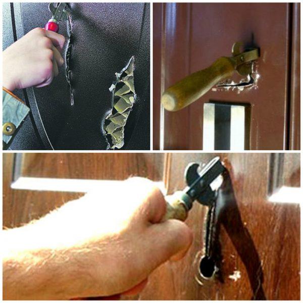 Взлом двери консервным ножом