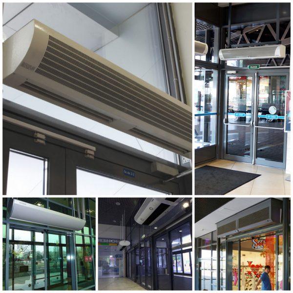 Тепловые завесы в общественных помещениях