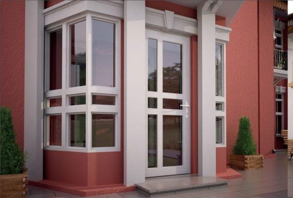Входные поливинилхлоридные двери