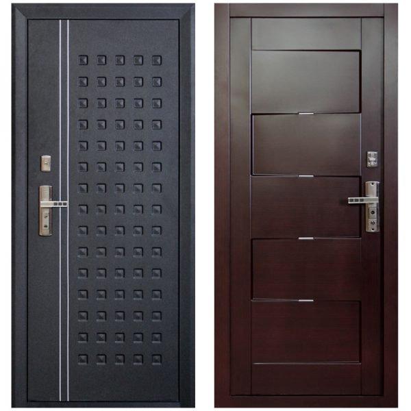 Варианты металлических входных дверей
