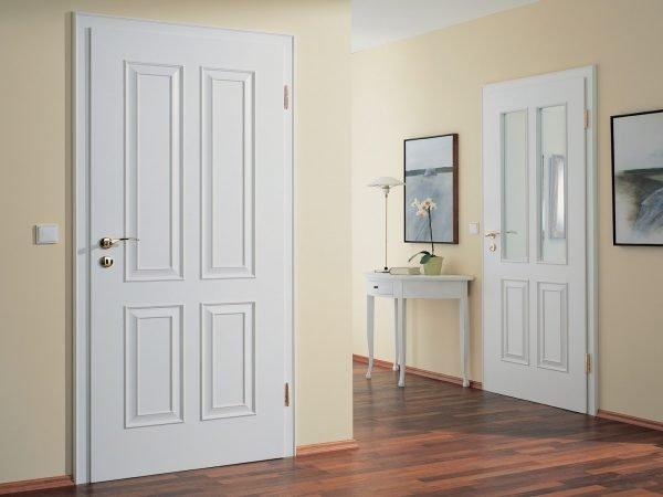 Белые двери с филёнками
