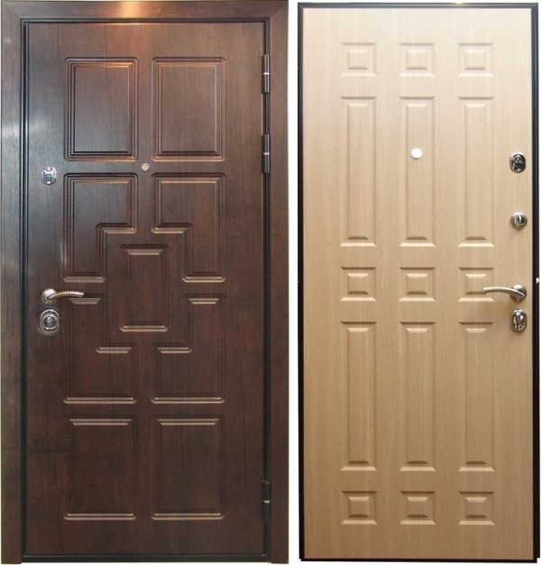 Входные металлические двери с замком