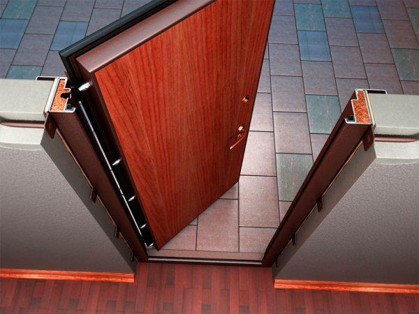 Структура установленной двери