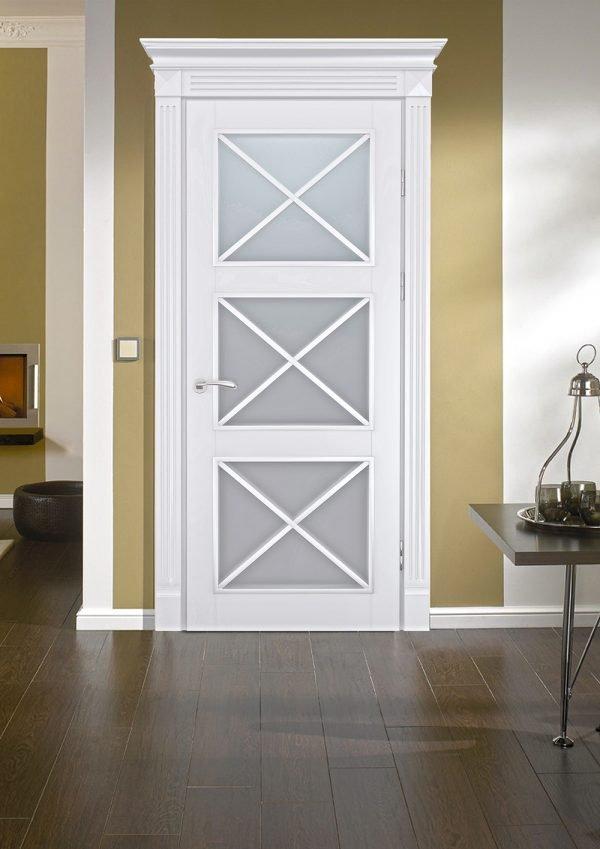 Белые межкомнатные двери в стиле прованс
