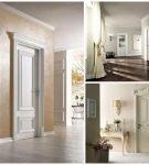 Пример использования светлых дверей