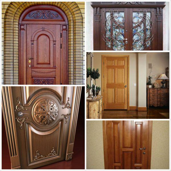 Варианты дверей из массива древесины