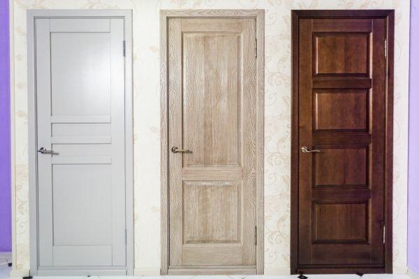 Деревянные двери из разных пород