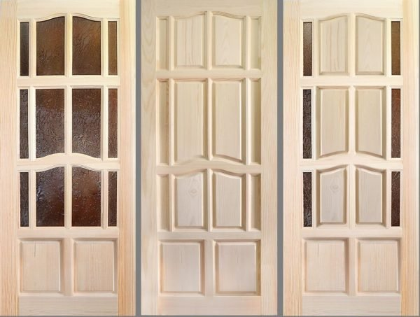 Неокрашенные двери из массива сосны