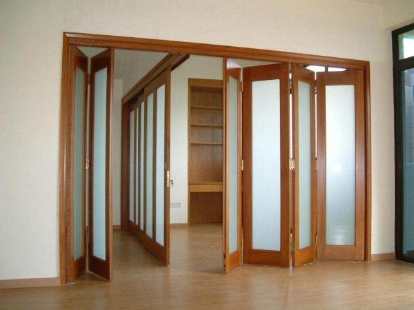 Пример двери-гармошки для жилого помещения