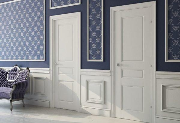 Двери эмаль в интерьере помещения