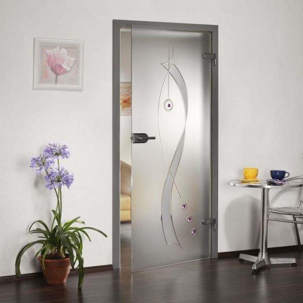 Стеклянные матовые двери
