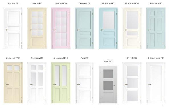 Модели дверей в стиле прованс