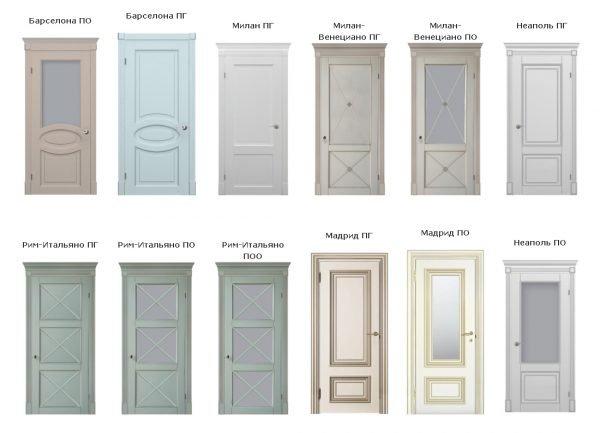 Модели дверей в стиле прованс с патиной