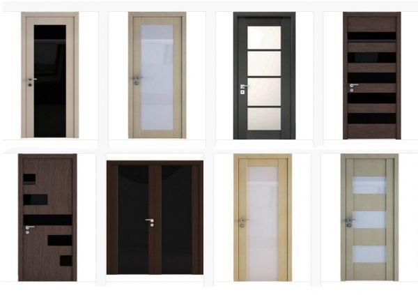 Межкомнатные двери в стилей хай-тек