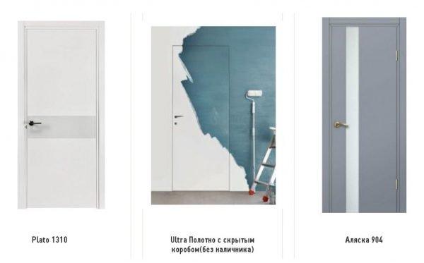 Межкомнатные двери в стиле хай-тек в модной гамме
