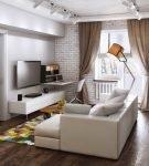 Комната с элементами классики и современного декора