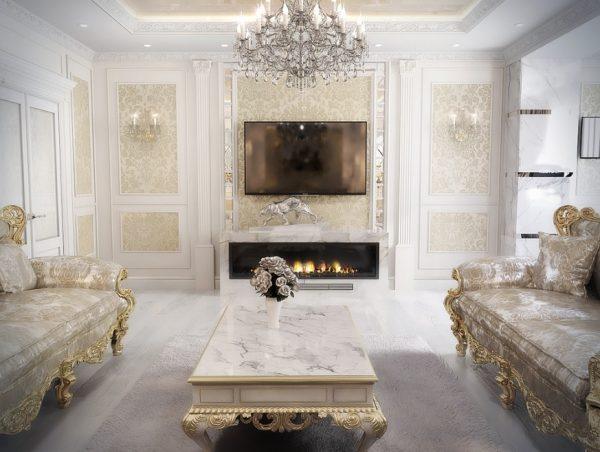 Интерьер квартиры в дворцовом стиле