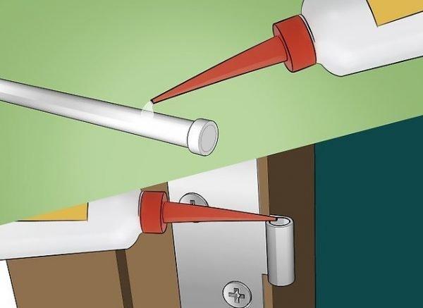 Схема нанесения смазки на петли двери