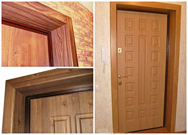 МДФ панели на откосах двери