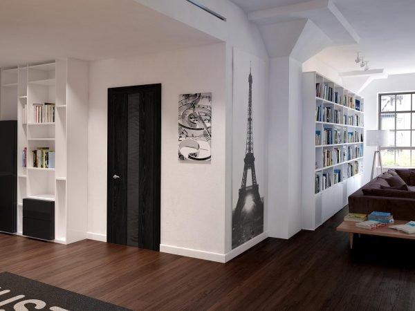 Двери венге в квартире открытой планировки