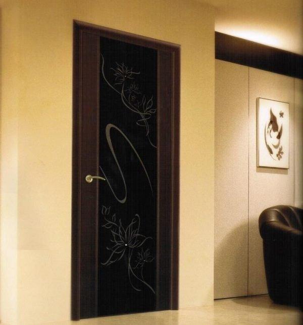 Двери венге с графитным стеклом
