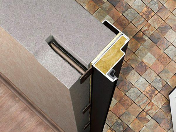 Крепление дверной коробки к бетонной стене