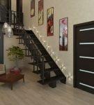 Дверь венге в тон лестнице
