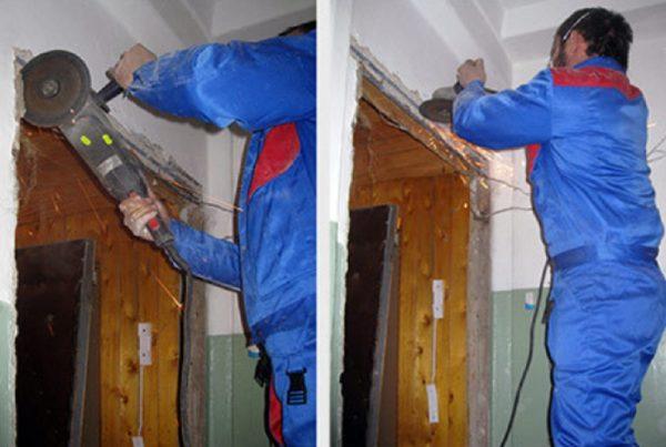 Демонтаж дверной рамы